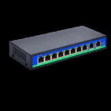 REX-0802P 8ми портовый POE свитч + 2 UPLINK