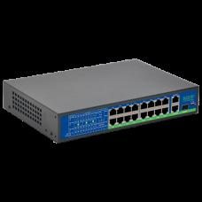 REX-160201P 16ти  портовый POE свитч + 2 UPLINK + 1*100/1000mbps SFP