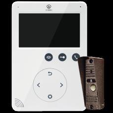 Комплект домофона O'Zero VD-041 (4.3 дюйма) + ADS-700 (медь)