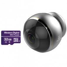 Панорамная Wi-Fi камера c эффектом «рыбий глаз» EZVIZ C6P + Карта памяти WD Purple