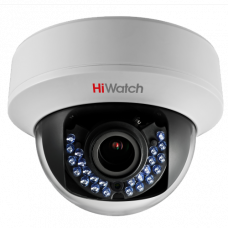 Купольная TVI камера HiWatch DS-T107 (2.8-12 mm)